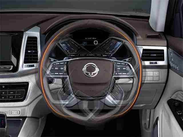 ssangyong rexton heated steering wheel