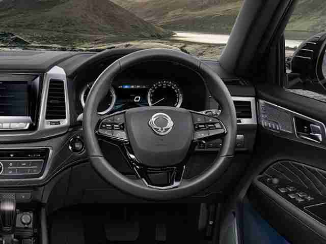ssangyong rexton leather steering wheel